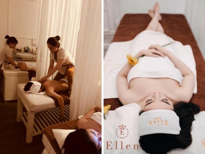 Bên cạnh việc giúp cơ thể được thả lỏng, liệu trình Massage thư giãn toàn thân Ellen Spa Style mang đến nhiều hiệu quả cho sức khỏe - Massage toàn thân giúp loại bỏ tế bào chết trên cơ thể, cải thiện làn da, cung cấp độ ẩm cho da, khuyến khích tái tạo mô, giảm sự xuất hiện của vết sẹo, rạn da