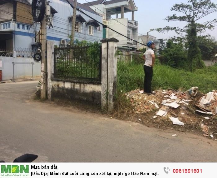[Đắc Địa] Mảnh đất cuối cùng còn xót lại, mặt ngõ Hào Nam mặt tiền 6m.