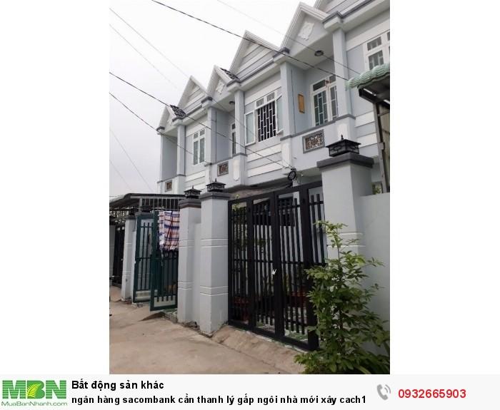 Ngân hàng Sacombank cần thanh lý gấp ngôi nhà mới xây cách chợ Bình Chánh 3km