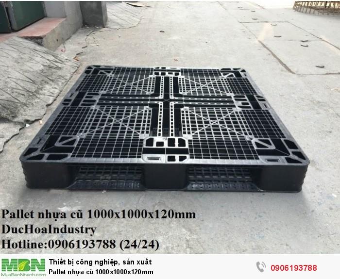 Pallet nhựa cũ 1000x1000x120mm - Hotline: 0906193788 (Nguyễn Hòa 24/24)