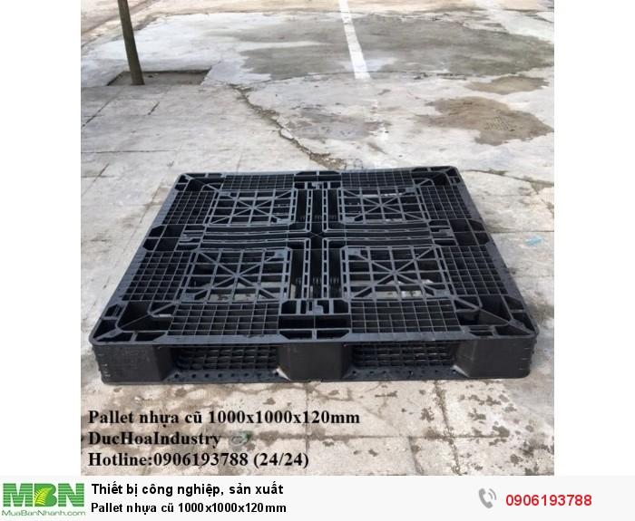 Pallet nhựa cũ 1000x1000x120mm, giao hàng toàn quốc - Hotline: 0906193788 (Nguyễn Hòa 24/24)