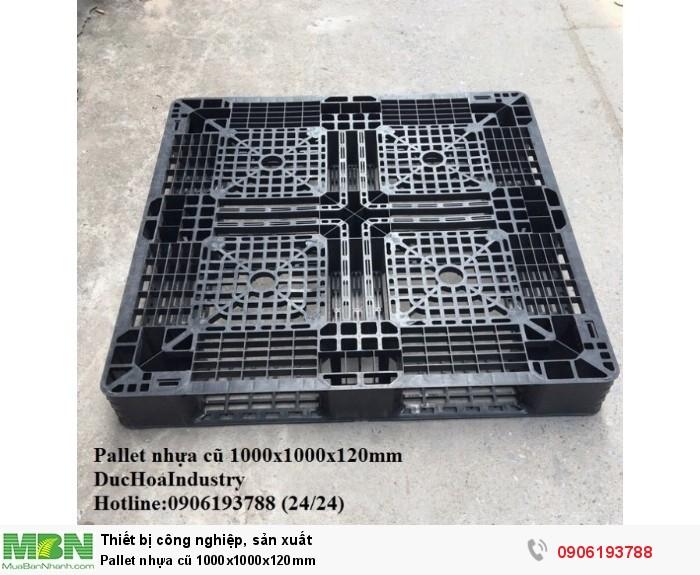 Pallet nhựa cũ 1000x1000x120mm, miễn phí vận chuyển số lượng - Hotline: 0906193788 (Nguyễn Hòa 24/24)
