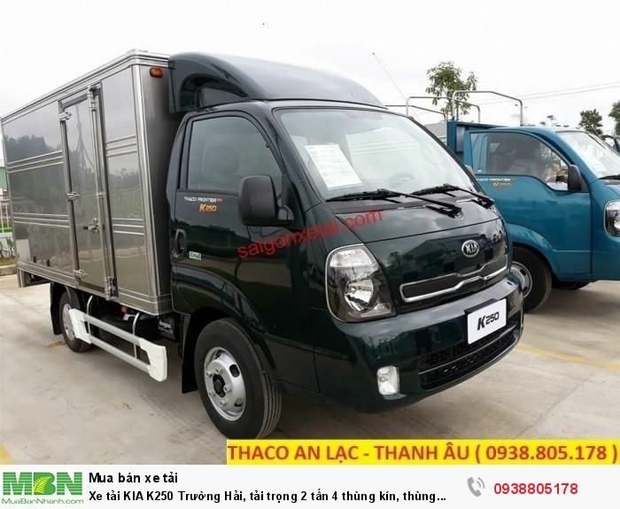 Xe tải KIA K250 Trường Hải, tải trọng 2 tấn 4 thùng kín, thùng mui bạt, hỗ trợ 75% giá trị xe. 4