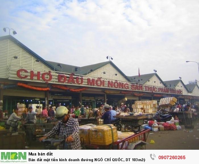 Bán đất mặt tiền kinh doanh đường NGÔ CHÍ QUỐC, DT 103m2(4.2x23)