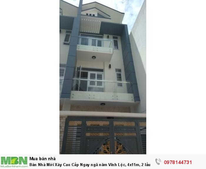 Bán Nhà Mới Xây Cao Cấp Ngay ngã năm Vĩnh Lộc, 4x11m, 2 lầu sân thượng