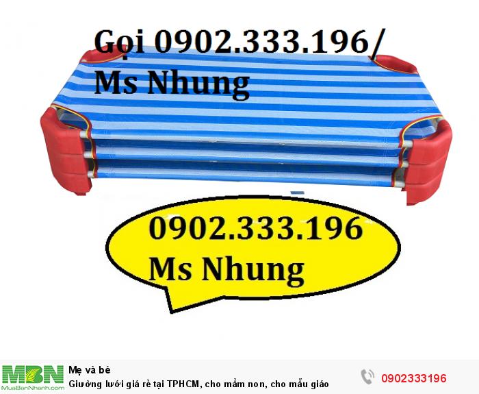 Giường lưới giá rẻ tại TPHCM, cho mầm non, cho mẫu giáo0