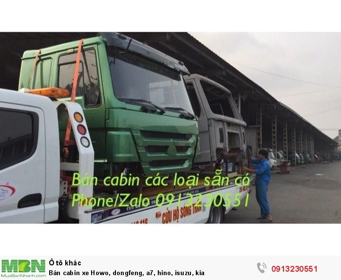 Bán cabin xe Howo, dongfeng, a7, hino, isuzu, kia