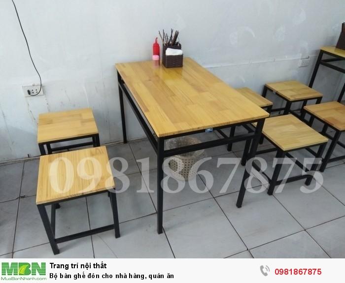 Bộ bàn ghế đôn cho nhà hàng, quán ăn