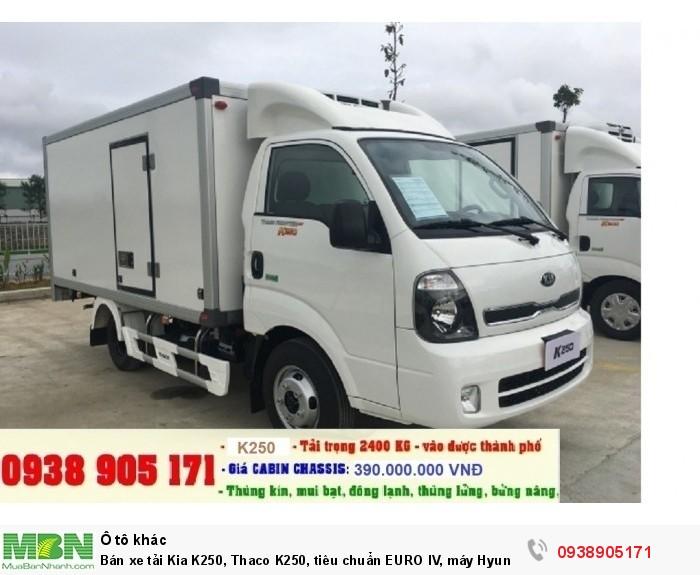 Bán xe tải Kia K250, Thaco K250, tiêu chuẩn EURO IV, máy Hyundai, mới 2018 2