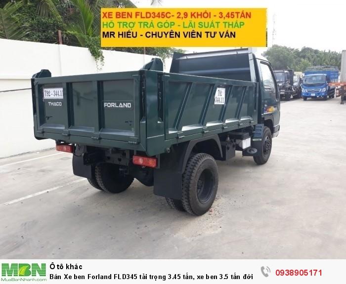 Bán Xe ben Forland FLD345 tải trọng 3.45 tấn, xe ben 3.5 tấn đời 2017, có hỗ trợ trả góp trên TPHCM 2