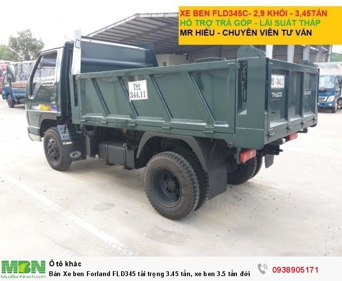 Bán Xe ben Forland FLD345 tải trọng 3.45 tấn, xe ben 3.5 tấn đời 2017, có hỗ trợ trả góp trên TPHCM 3