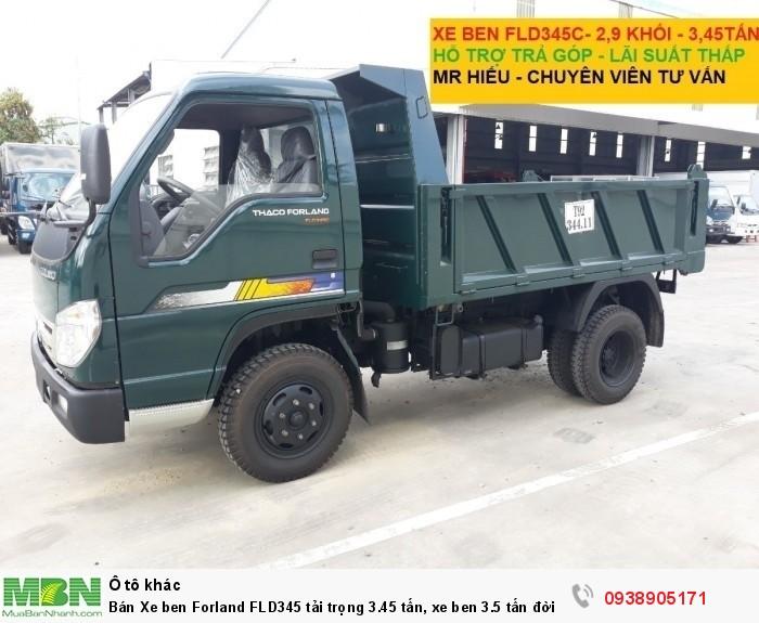 Bán Xe ben Forland FLD345 tải trọng 3.45 tấn, xe ben 3.5 tấn đời 2017, có hỗ trợ trả góp trên TPHCM 4