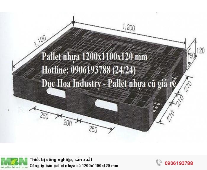 Công ty bán pallet nhựa cũ 1200x1100x120 mm tại Hà Nội - Liên hệ: 0906193788 (24/24)2