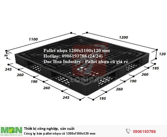 Công ty bán pallet nhựa cũ giá rẻ 1200x1100x120 mm toàn quốc - Liên hệ: 0906193788 (24/24)3