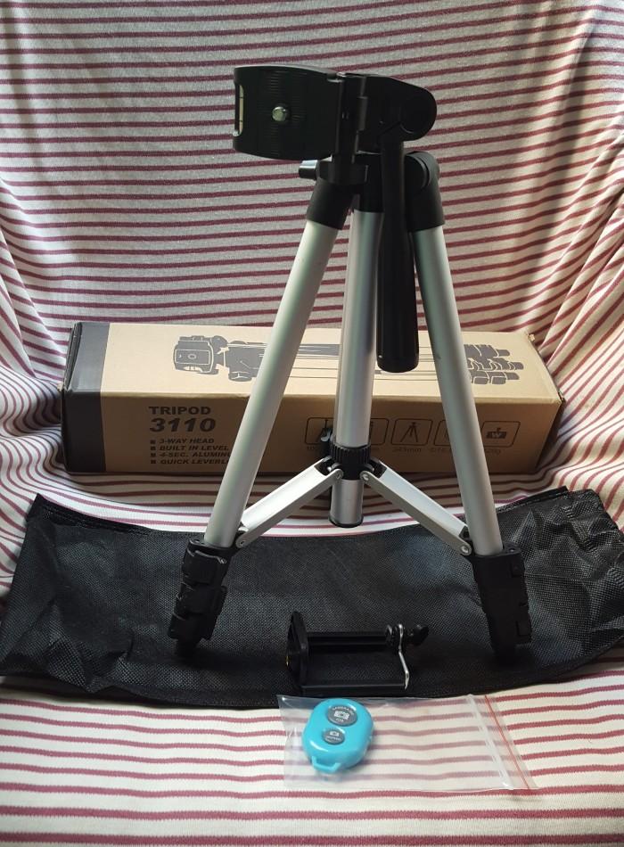 Chân giá đỡ máy chụp ảnh/ quay phim Tripod TF 3110 + Giá đỡ điện thoại + Remote5