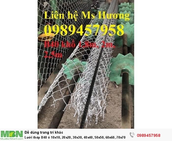 Lưới thép B40 ô 10x10, 20x20, 30x30, 40x40, 50x50, 60x60, 70x702