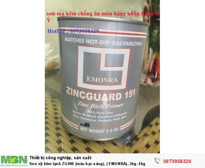 Sơn xịt kẽm lạnh ZG400 (màu bạc sáng), ( EMONRA), 2kg. 4kg2