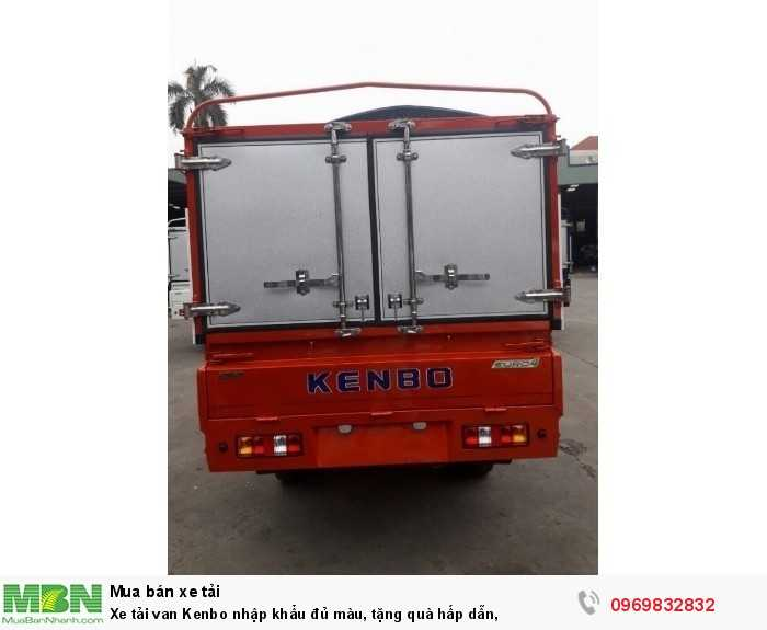 Xe tải van Kenbo nhập khẩu đủ màu, tặng quà hấp dẫn, 3