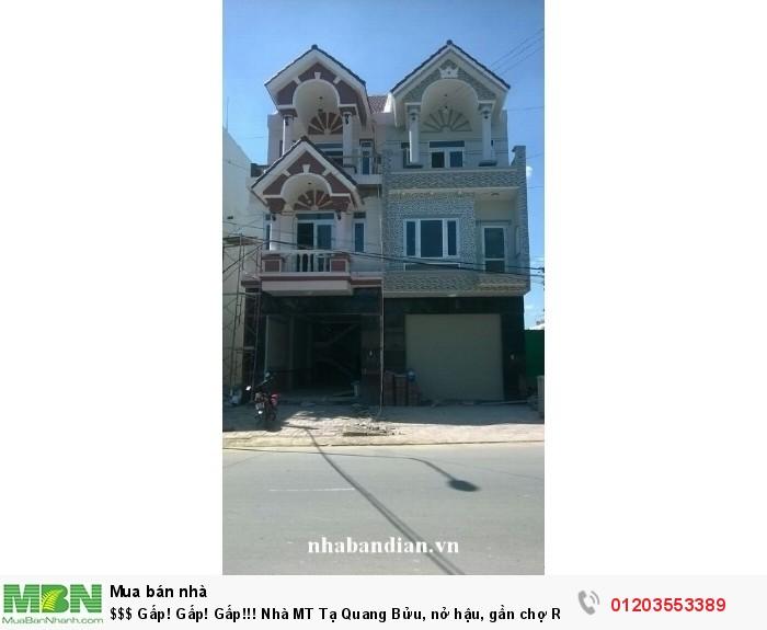 Nhà MT Tạ Quang Bửu, nở hậu, gần chợ Rạch Ông Q8, giá siêu rẻ 6.8 tỷ