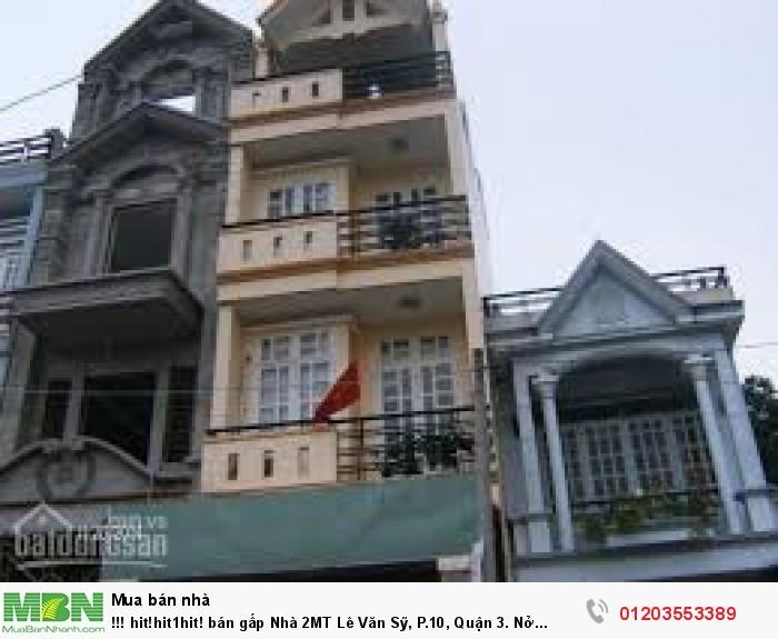 Nhà 2MT Lê Văn Sỹ, P.10, Quận 3. Nở 5.3m. Có hẻm sau.