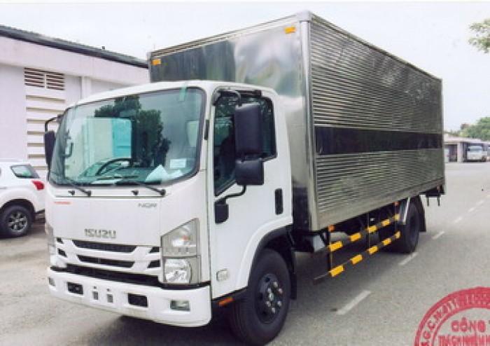 Bán trả góp xe Isuzu 5 tấn NQR75M Euro4 thùng kín inox giá rẻ nhất Miền Nam