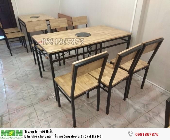 Bàn ghế cho quán lẩu nướng đẹp giá rẻ tại Hà Nội