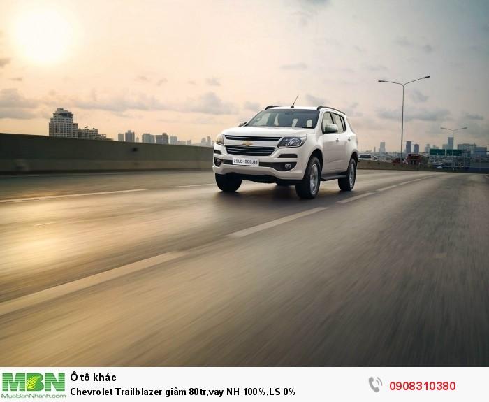 Chevrolet Trailblazer giảm 50tr,vay NH 100%,LS 0%