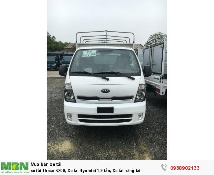 Xe tải Thaco K200, Xe tải Hyundai 1,9 tấn, Xe KIA 1,9 tấn nâng tải mới thaco