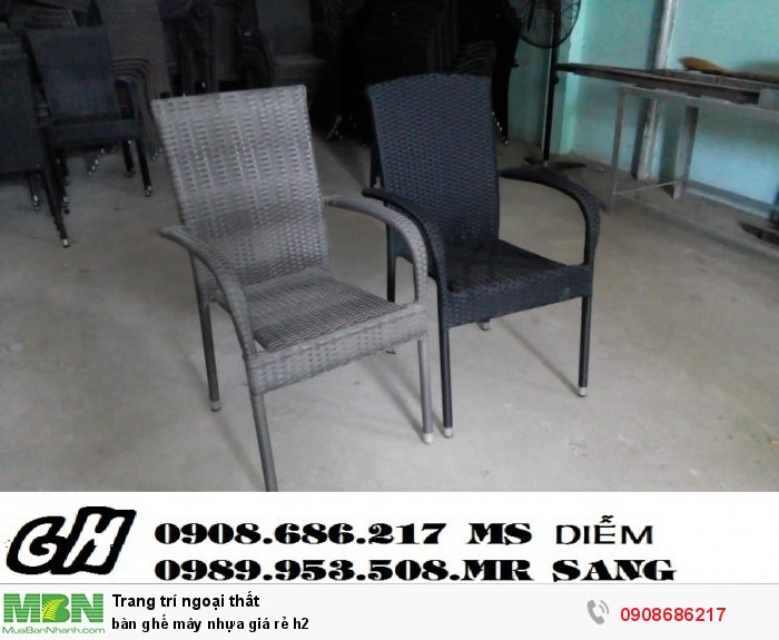 Bàn ghế mây nhựa giá rẻ h20