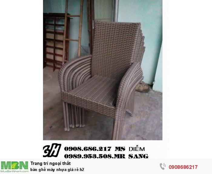 Bàn ghế mây nhựa giá rẻ h21