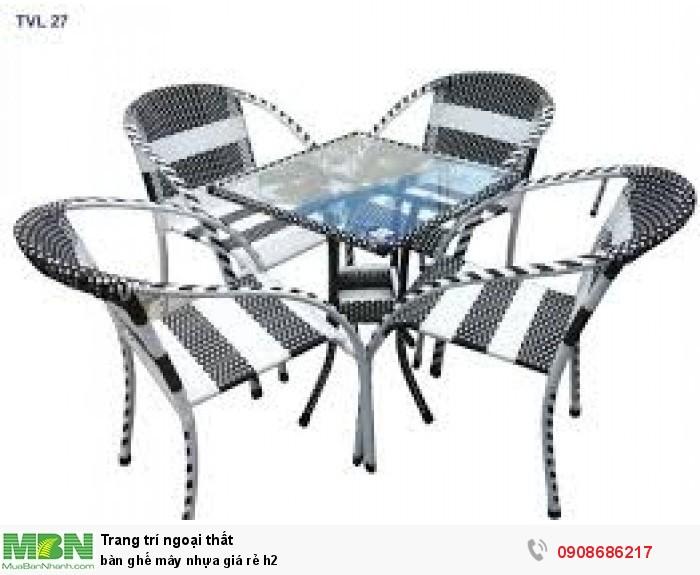 Bàn ghế mây nhựa giá rẻ h22