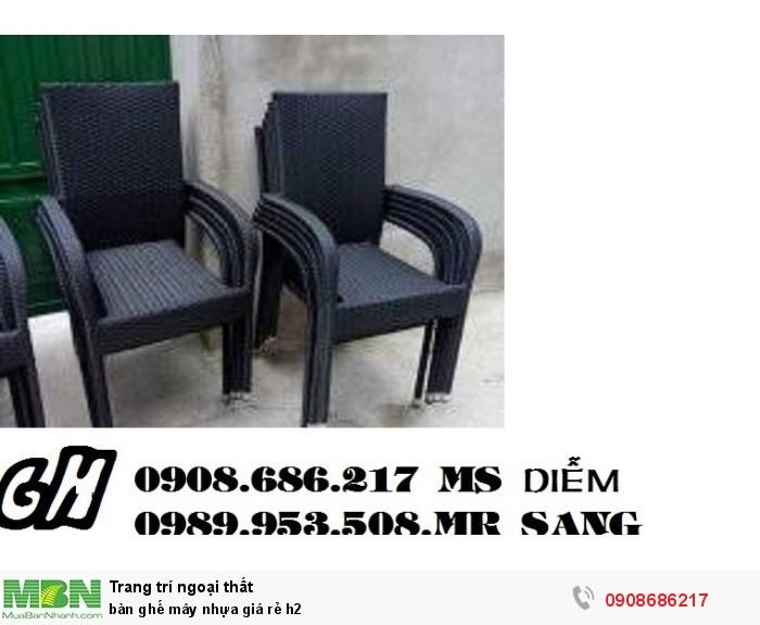 Bàn ghế mây nhựa giá rẻ h23