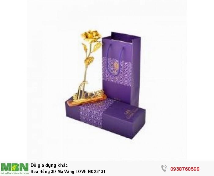 Hoa Hồng 3D Mạ Vàng LOVE NDX31310