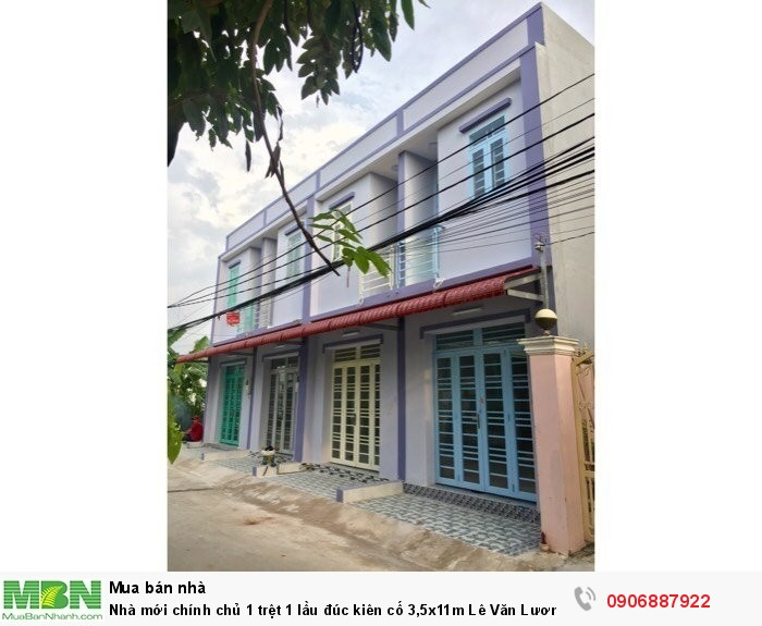 Nhà mới chính chủ 1 trệt 1 lầu đúc kiên cố 3,5x11m Lê Văn Lương, Nhà Bè
