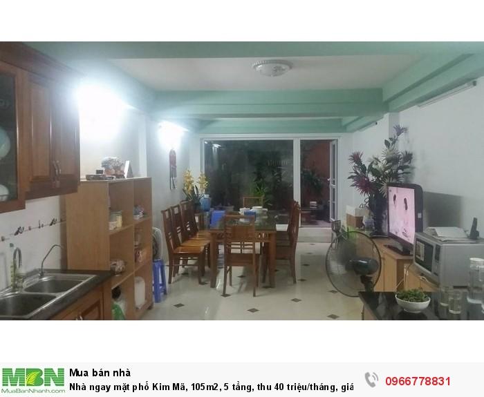 Nhà ngay mặt phố Kim Mã, 105m2, 5 tầng, thu 40 triệu/tháng