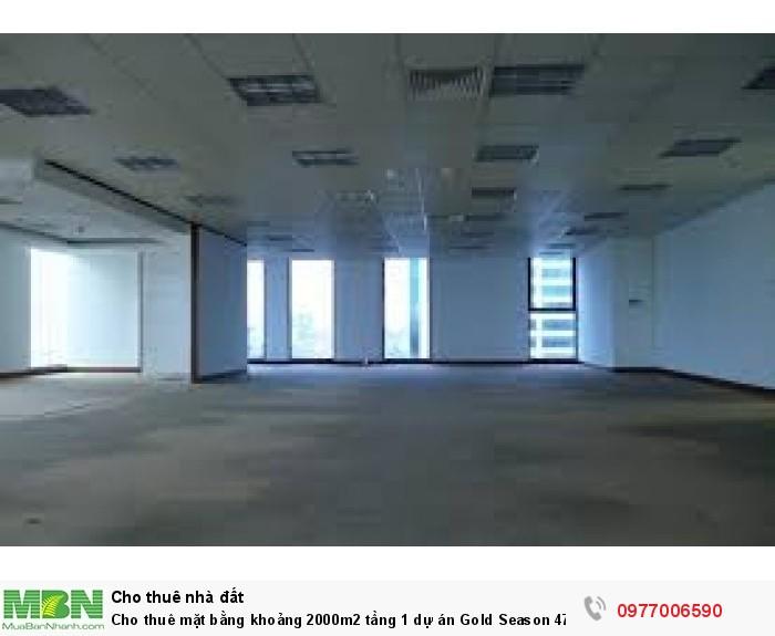 Cho thuê mặt bằng khoảng 2000m2  tầng 1 dự án Gold Season 47 Nguyễn Tuân