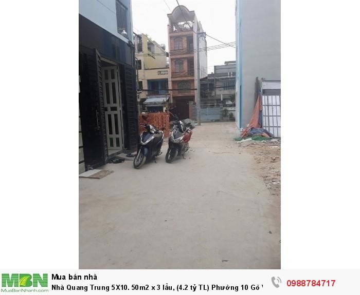 Nhà Quang Trung 5X10. 50m2 x 3 lầu, Phường 10 Gò Vấp.