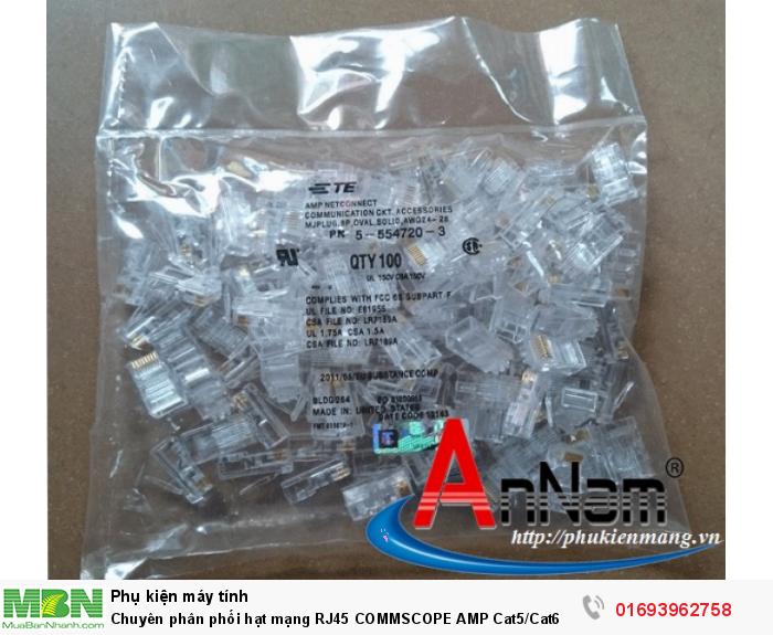 Chuyên phân phối hạt mạng RJ45 COMMSCOPE AMP Cat5/Cat6 chân đồng 100% có sẵn hàng7