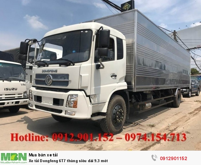 Xe tải Dongfeng 6T7 thùng siêu dài 9.3 mét