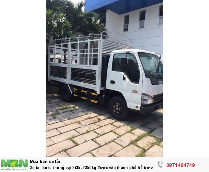 Xe tải  Isuzu thùng  bạt 2t35, 2350kg  được vào thành phố hỗ trơ vay trả góp 90%