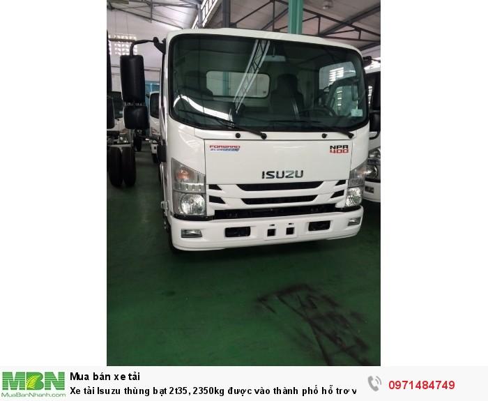Xe tải  Isuzu thùng  bạt 2t35, 2350kg  được vào thành phố hỗ trơ vay trả góp 90% 5