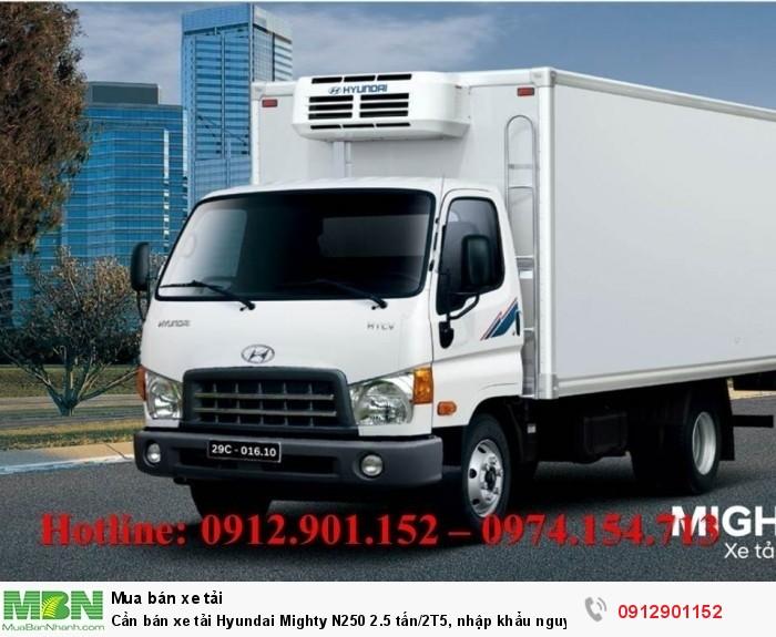 Cần bán xe tải Hyundai Mighty N250 2.5 tấn/2T5, nhập khẩu nguyên chiếc mới 100%