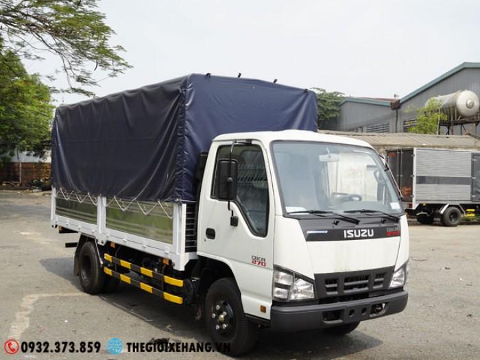 Bán xe tải Isuzu 3T5 - QKH - 2018- EURO4 - Thùng bạt Lấy Liền