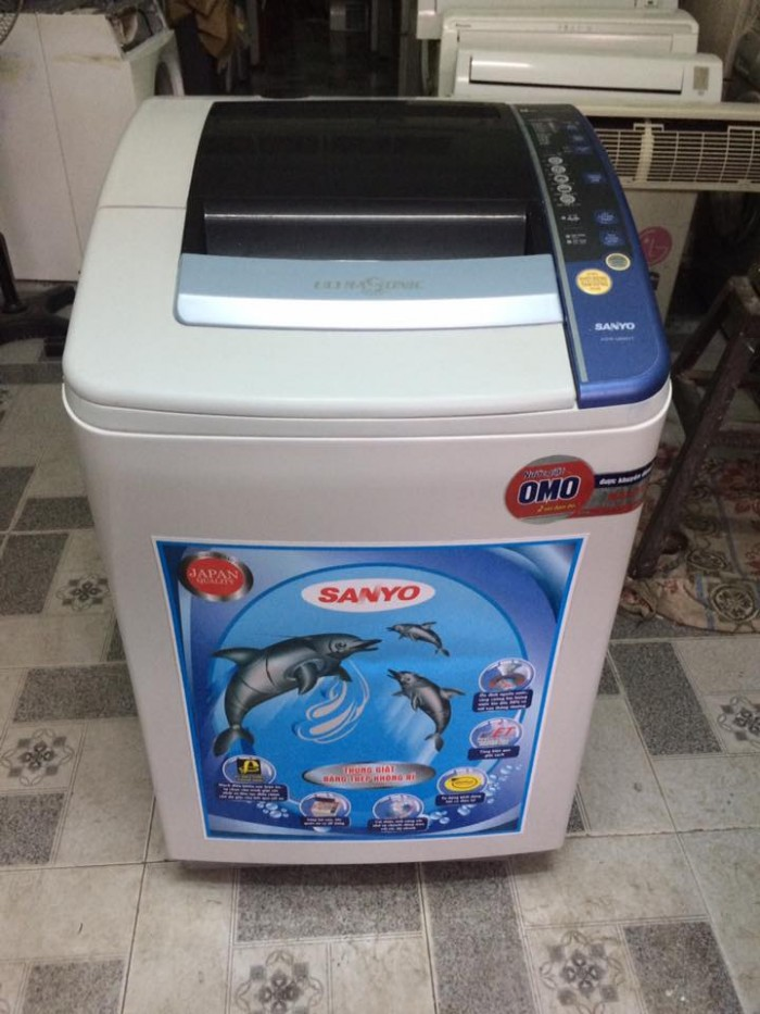 Máy giặt Sanyo ASW-U850VT 8,5kg lồng nghiêng mới 95%1