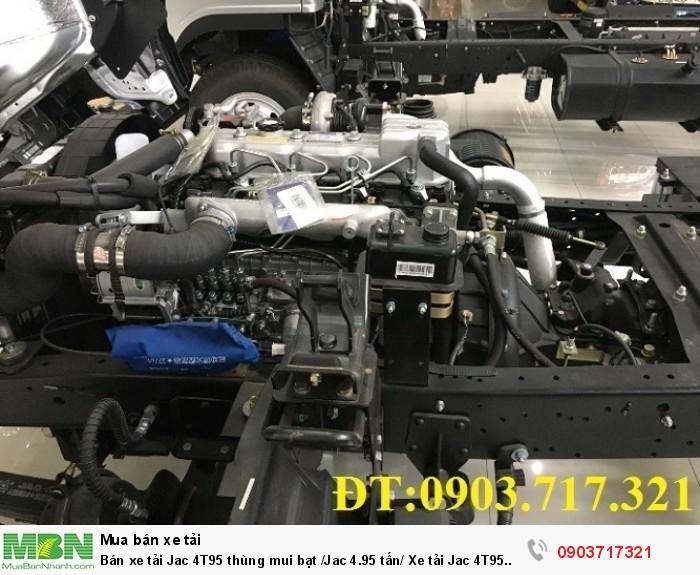 Bán xe tải Jac 4T95 thùng mui bạt /Jac 4.95 tấn/ Xe tải Jac 4T95 /Xe Jac 4t95 / 4tan95 (HFC1048K)