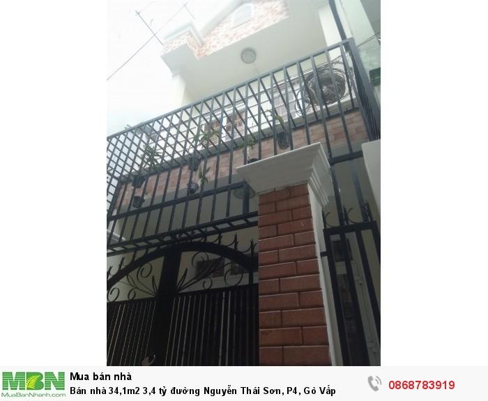 Bán nhà 34,1m2 đường Nguyễn Thái Sơn, P4, Gò Vấp