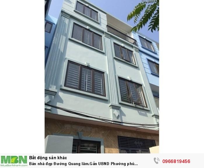 Bán nhà đẹp Đường Quang lãm.Gần UBND Phường phú lãm-HĐ(36m2*4T-4PN)