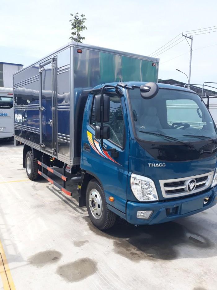 Xe tải ollin 360 2,15 tấn, máy lạnh cabin, thùng kín, hỗ trợ trả góp giá ưu đãi. đời 2018