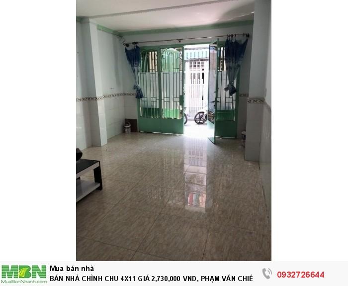 Bán Nhà Chình Chu 4x11 Giá 2,730,000 Vnd, Phạm Văn Chiêu, Gò Vấp.