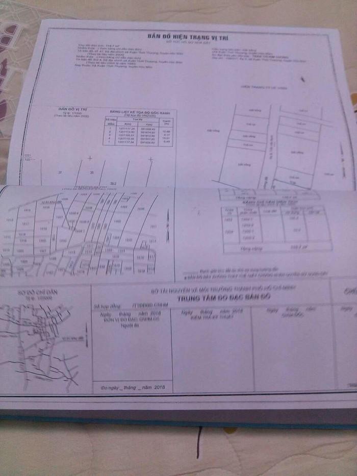 Lô đất bán đường XTT31, xã XTT,Hóc môn, giá 870tr, DT 7x16=112m2